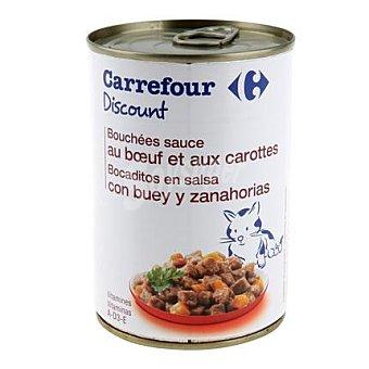 Carrefour Discount Bocaditos para gatos de buey 400 gr