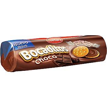 CUETARA BOCADITOS Galletas cracker rellenas de crema de chocolate estuche 150 g Estuche 150 g