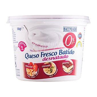 Hacendado Queso fresco batido desnatado Tarrina 500 g