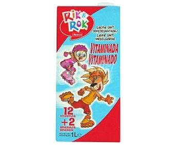 Rik&Rok Auchan Leche semidesnatada energía y crecimiento 1 Litro