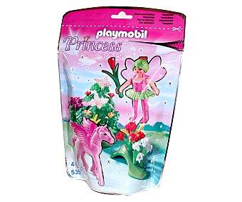 PLAYMOBIL Figura de fantasía Princesas, Hada de primavera con bebé Pegaso, modelo 5351 de 1 unidad