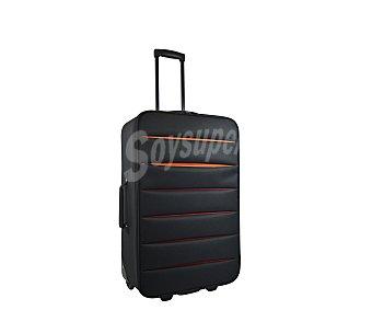 Doudone Maleta de 2 ruedas, con estructura flexible de polyester de color negro, medida de 66 centímetros 66cm