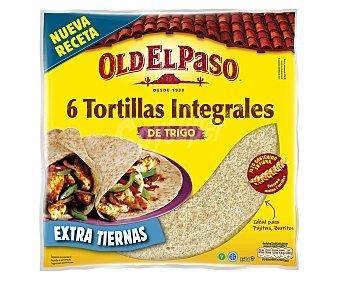 Old El Paso Tortillas integrales suaves Paquete 6 u (350 g)