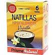 Natillas hipocalóricas de vainilla sustitutivas de 1 comida paquete 300 g 6 unidades Prisma natural