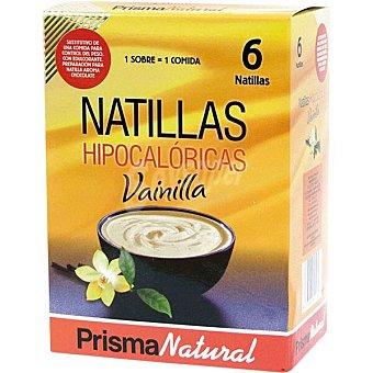 Prisma natural Natillas hipocalóricas de vainilla sustitutivas de 1 comida paquete 300 g 6 unidades