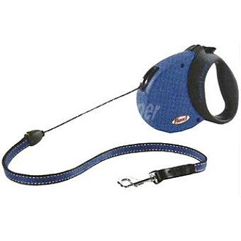 BIOZOO AXIS FLEXI CONFORT Correa extensible color azul-negro cordón de 5 metros para perros de peso aproximado 20 kg 1 unidad