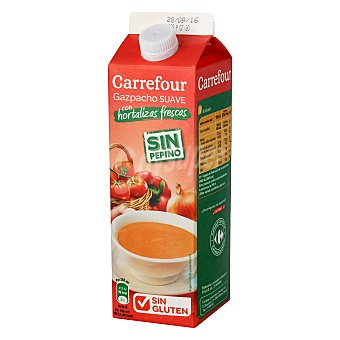 Carrefour Gazpacho suave 'grandes Recetas' - Sin Gluten 1 l