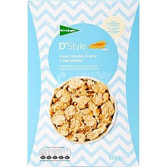 Aliada Cereales de desayunos en copos tostados de arroz y trigo integral Paquete 500 g