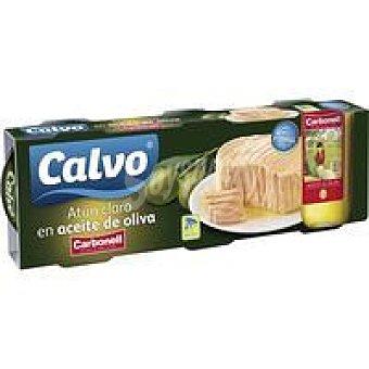 CALVO Carbonel Atún claro en aceite de oliva Pack 3x100 g