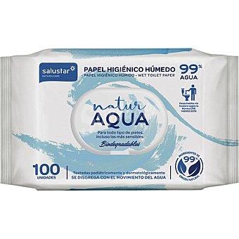 Salustar Papel higiénico húmedo Natur Aqua Paquete 100 unidades