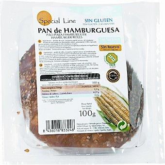 Special Line pan de hamburguesa sin gluten sin huevo y sin lactosa Envase 100 g
