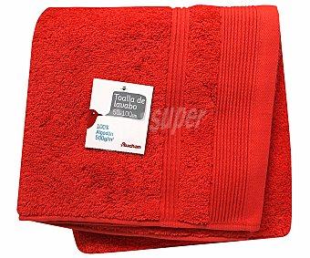 AUCHAN Toalla 100% algodón lisa para lavabo, color naranja, 50x100 centímetros, densidad de 500 gramos/m² 1 Unidad