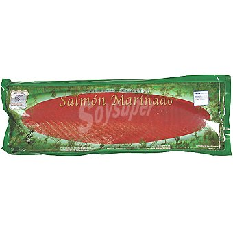 Ahumados Domínguez salmón ahumado marinado precortado envase 700 g