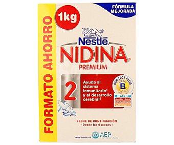 Nestlé Leche (2) de continuación a partir de 6 meses nidina 1000 g. 1000 g