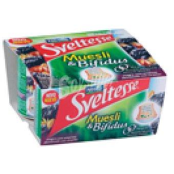 Sveltesse Nestlé Yogur muesli y bifidus desnatado  Pack 4 unidades 125 g