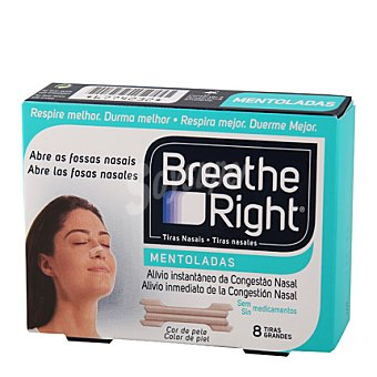 Breathe Right Tira Nasal Mentol 8 ud