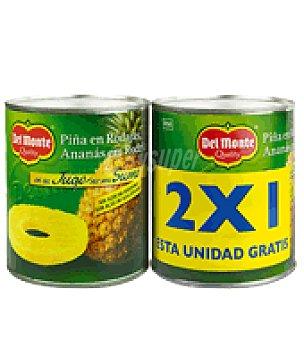 Del Monte Piña en rodajas Quality pack de 2x820 g