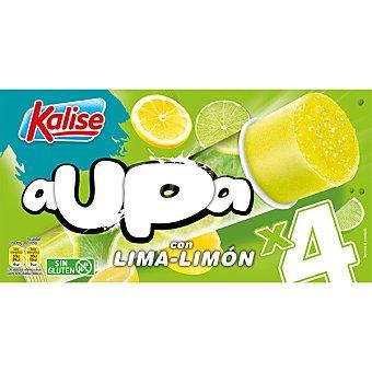 Kalise Aupa sorbete de helado sabor lima limón sin gluten 4 unidades estuche 416 g 4 unidades