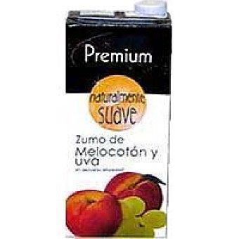 Zumo de melocotón-uva premium Brik 1 litro