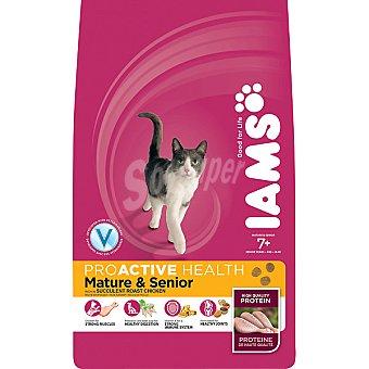 IAMS PROACTIVE NUTRITION Mature & Senior alimento completo para gato adulto +7 años con pollo  bolsa 2,5 kg