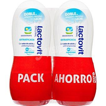 Lactovit Desodorante roll-on Original con sales de calcio y antitranspirantes sin alcohol pack 2 envase 50 ml Pack 2 envase 50 ml