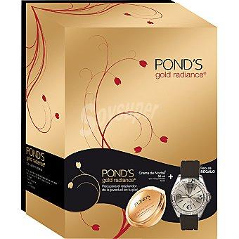 POND'S Gold Radiance Crema de noche reafirmante con micropartículas de oro tarro 50 ml + reloj negro de regalo Tarro 50 ml