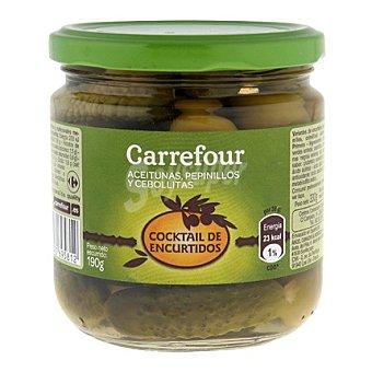 Carrefour Cocktail de encurtidos Bote 190 g (peso neto escurrido)