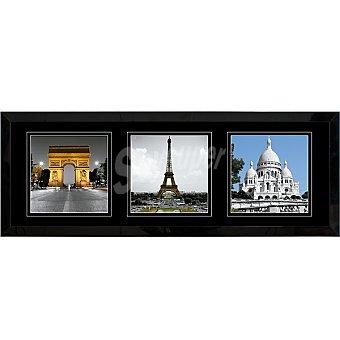 HERGON Lámina París 30 x 90 enmarcada en color negro mate