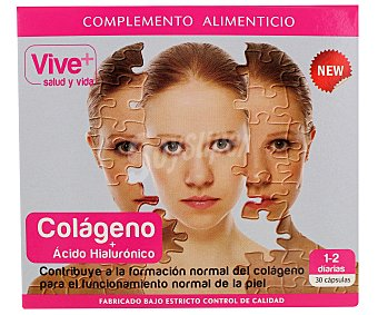 Vive+ Colágeno + Ácido Hialourónico Caja 30 uds