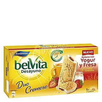 Belvita Fontaneda Desayuno Duo Cremoso galletas con relleno de yogur y fresa 5 cereales completos  estuche 253 g
