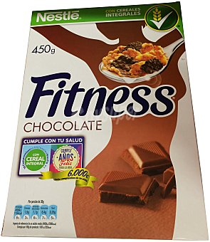 Fitness Nestlé Cereal copos chocolate leche Caja 450 g
