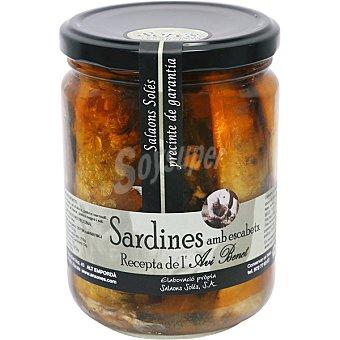 SALAONS SOLES Sardinas en escabeche receta de Avi Benet Lata 120 g neto escurrido