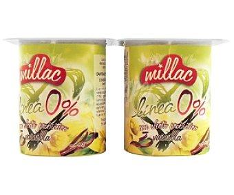 Millac Yogur desnatado Vainilla 4 Unidades de 125 Gramos