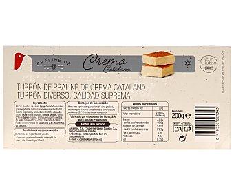 Auchan Turrón praliné de crema catalana 200 gramos