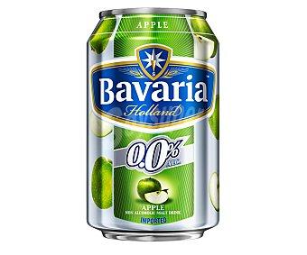 Bavaria Cerveza holandesa sin alcohol 0,0% con manzana Lata de 33 centilitros