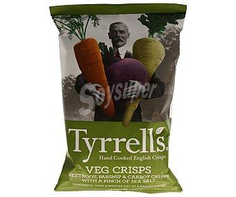 Tyrrells Verduras fritas remolacha, nabo y zanahoria ligeramente saladas Bolsa 150 g