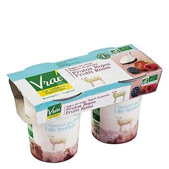 Vrai Yogur oveja frutos rojos Pack de 2x125 g
