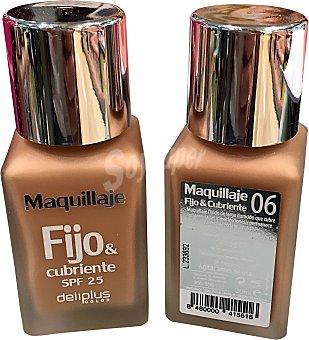 DELIPLUS Maquillaje fluido fijo&cubriente nº 06 beige medio 1 unidad
