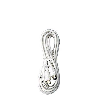 Prolongador TV 1,5 Metros Macho-Hembra 9,5mm Blanco 1 ud