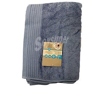 AUCHAN Toalla de ducha lisa color azul de algodón egipcio, 630 gramos/m², 70x140 centímetros 1 Unidad