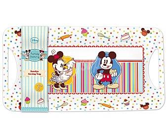 Disney Bandeja infantil con diseño de Minnie, Mickey y pastelitos, modelo Family Bakery 1 unidad