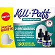 Insecticida volador eléctrico líquido antimosquitos sin olor caja 2 recambio  Kill-Paff