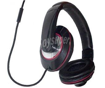 INNOVA MC1 Auriculares tipo Casco Negro, con cable y micrófono