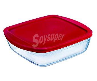 Ocuisine Recipiente cuadrado con tapa apto para horno y microondas, 0,3 litros de capacidad 1 unidad