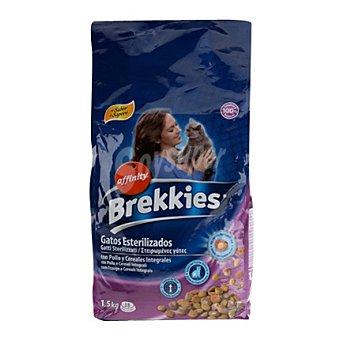 Brekkies Affinity Comida para gatos esterilizados con pollo y cereales 1.5 kg