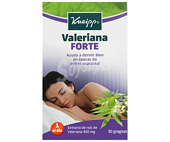 Kneipp Valeriana forte ayuda a dormir bien en épocas de estrés ocasional caja 30 comprimidos Caja 30 comprimidos