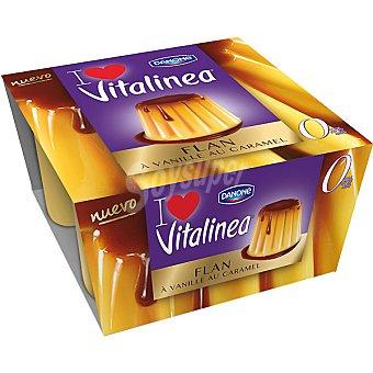 Vitalinea Danone Vitalinea flan fondant 4 unidades de 100 g