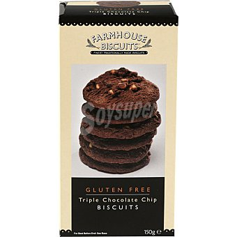 Farmhouse biscuits Galletas con triple chocolate sin gluten Estuche 150 g