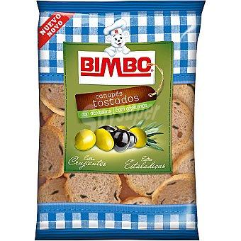 Bimbo Mini canapés tostados con aceitunas Bolsa 100 g