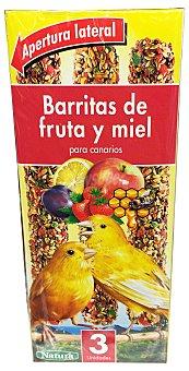 Natura Comida canario barrita fruta y miel Caja de 3 unidades